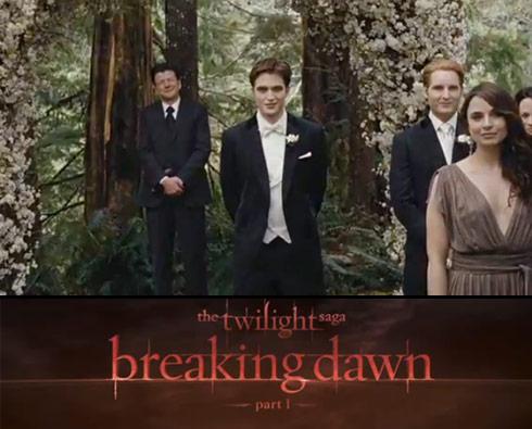 Twilight Saga Breaking Dawn wedding scene with Edward Cullen as the groom