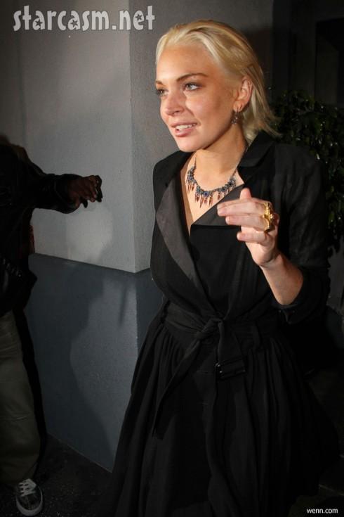 Lindsay Lohan parties after leaving house arrest