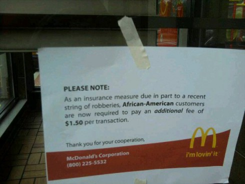 Seriously mcDonalds Twitter African American tax