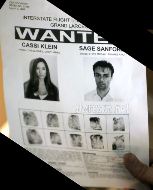 Big Brother 13's Cassi Colvin's mugshot and wanted poster from the Tell Me music video