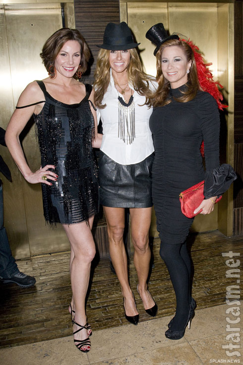 Countess LuAnn de Lesseps, Kelly Bensimon and Jill Zarin in burlesque costumes