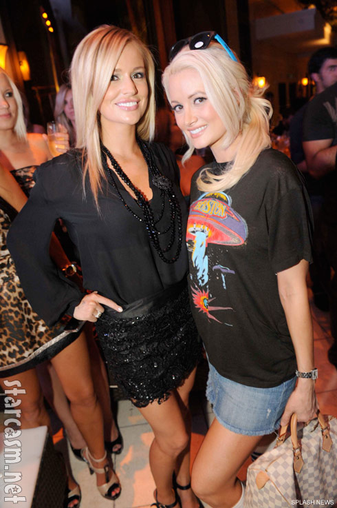 Emily Maynard parties with Holly Madison at XS nightclub in Las Vegas July 24, 2011
