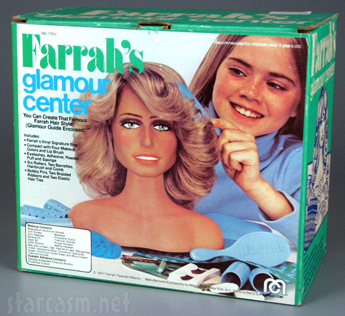 Farrah Fawcett hair feathering kit called Farrah's Glamour Center