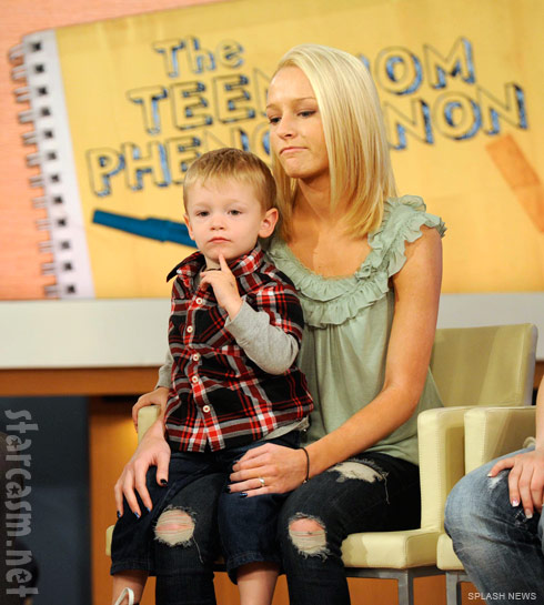 Teen Mom Maci Bookout with son Bentley on Dr. Oz