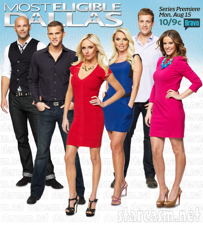 Most Eligible Dallas cast photo promo graphic ad