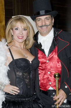 Ramon Singer and husband Mario Singer attend Sonja Morgan's burlesque themed party