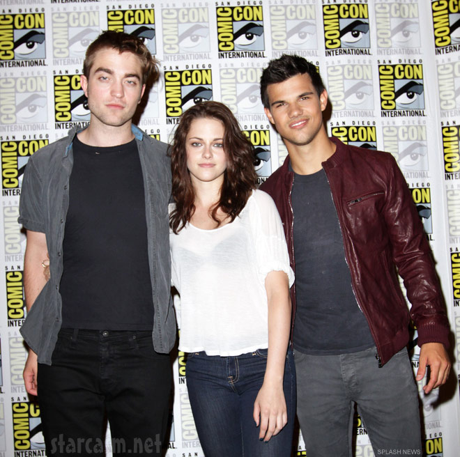Robert Pattinson Kristen Stewart and Taylor Lautner at San Diego Comic-Con 2011