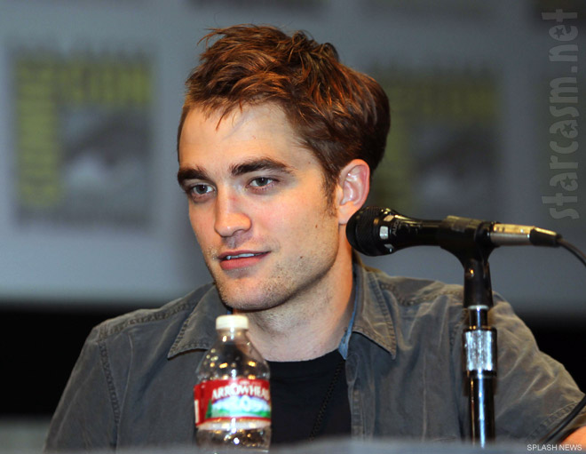 Robert Pattinson at the Twilight Breaking Dawn panel discussion at San Diego Comic-Con 2011