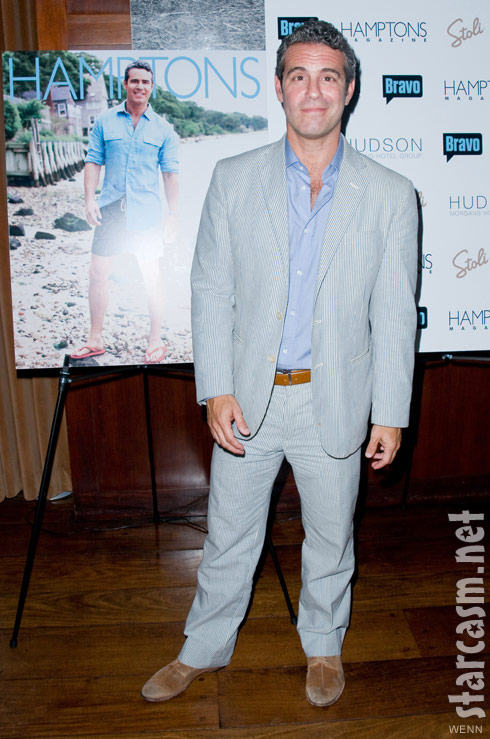 Andy Cohen celebrating his Hamptons magazine cover story August 2011