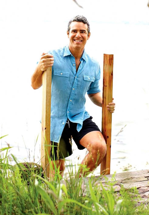 Andy Cohen in Sag Harbor from Hamptons magazine