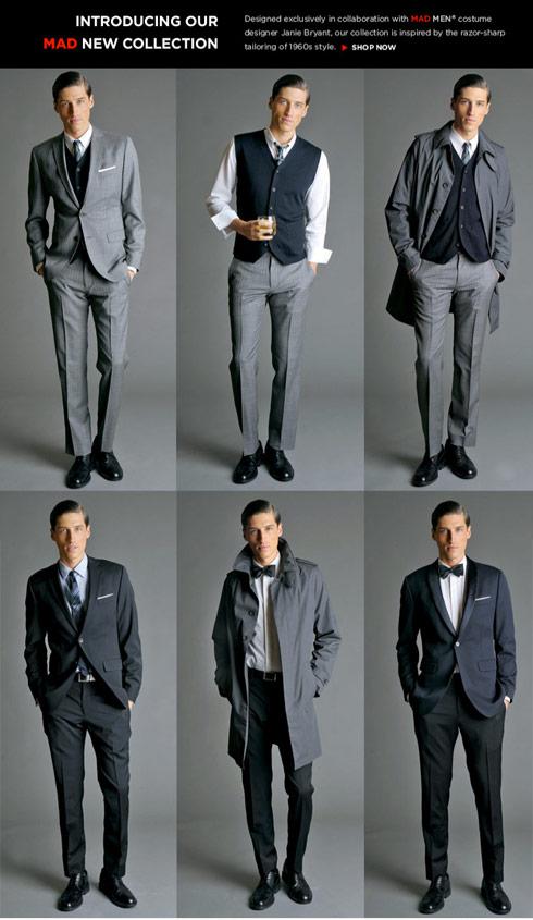 PHOTOS Banana Republic 'Mad Men' inspired clothing line for men ...