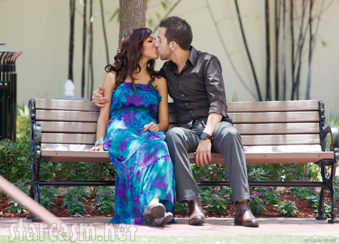 Teen Mom Farrah Abraham and new boyfriend Daniel Alvarez kiss on a park bench in Miami