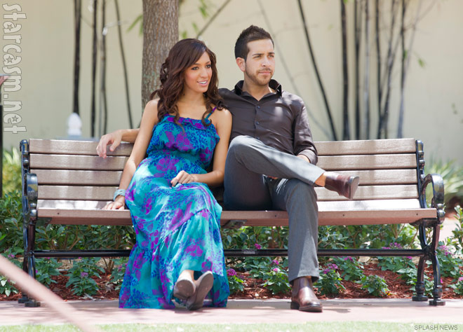 Teen Mom Farrah Abraham and her new boyfriend Daniel Alvarez on a park bench