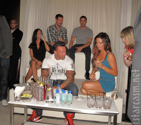 JWoww and her boyfriend Roger Matthews party at Pure Nightclub in Caesar's Palace