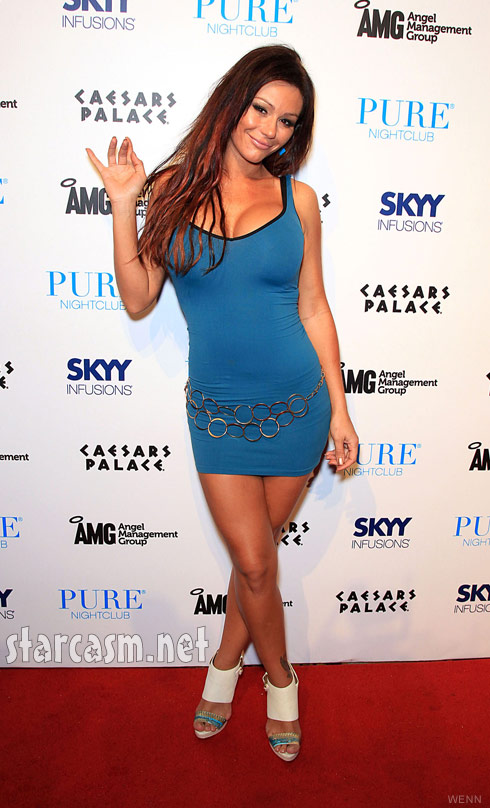 JWoww poses on the red carpet at Pure Nightclub in Las Vegas