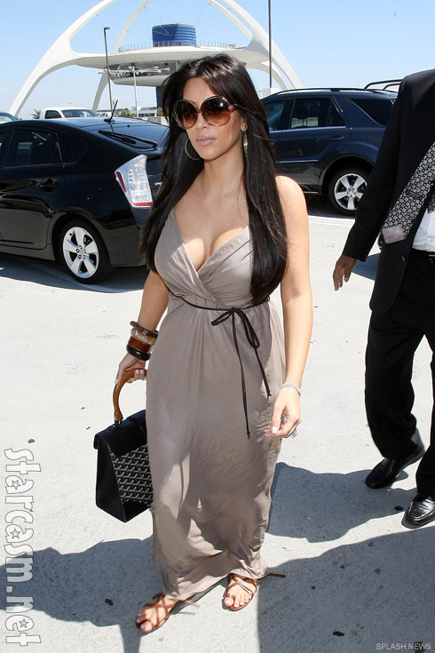 Kim Kardashian at LAX just prior to departing for her short honeymoon to Europe