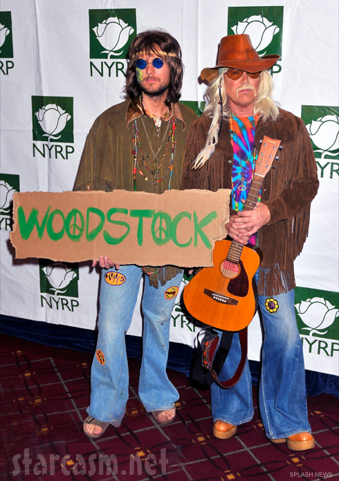Michael Kors and partner Lance LePere as hippies at Bette Midler's Hullaween 2009