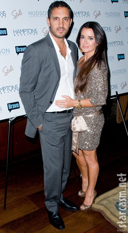Kyle Richards and husband Maricio Umansky at Andy Cohen&#039;s Hamptons magazine cover party