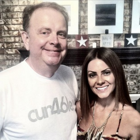 Bachelor Pad 2's Michelle Money pictured with her late father