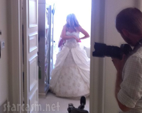 Pandora Vanderpump-Todd wedding dress photo