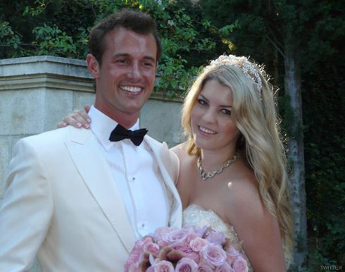 Wedding photo of Pandora Vanderpump-Todd and her husband Jason Sabo