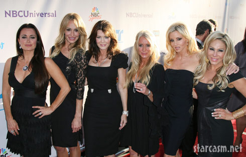 Sexy ladies of RHOBH pose during NBC Press Tour Party