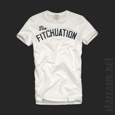 Abercrombie & Fitch's Jersey Shore themed shirt with The Fitchuation on the front
