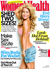 Julianne Hough on the cover of Women's Health May 2011 issue