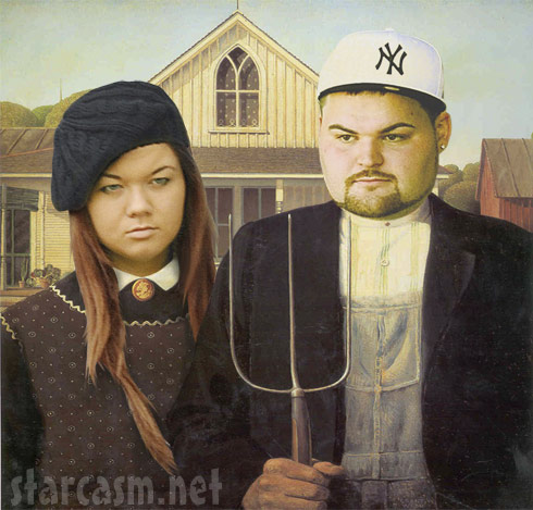 Teen Mom Amber Portwood and Gary Shirley in an American Gothic mash-up