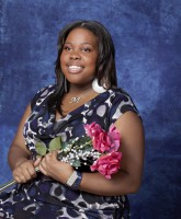 Glee Season 3 cast yearbook photo of Mercedes Jones played by Amber Riley