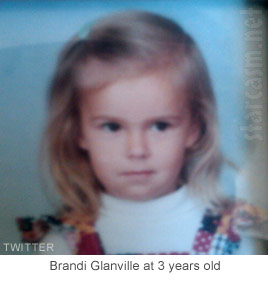 Brandi Glanville at three years old, way before she was a Real Housewife