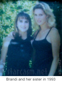 High school photo of Brandi Glanville with her sister Tricia Ann Glanville from 1993