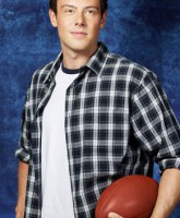 Glee Season 3 cast yearbook photo of Finn Hudson played by Cory Monteith