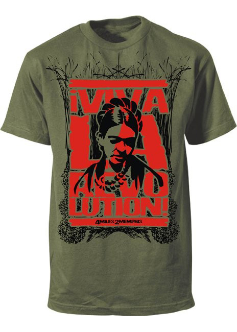 Frida Kahlo Viva La Revolution t-shirt by Danielle Colby Cushman of American Pickers