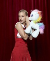 Glee Season 3 cast yearbook photo of Brittany Pierce played by Heather Morris