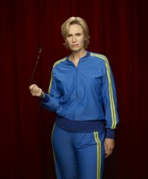 Glee Season 3 cast yearbook photo of Coach Sue Sylvester played by Jane Lynch