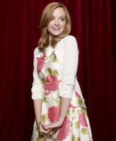 Glee Season 3 cast yearbook photo of Emma Pillsbury played by Jayma Mays