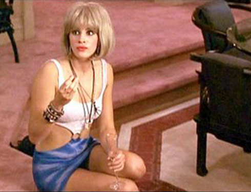 Julia Roberts as prostitute Vivian Wade from Pretty Woman