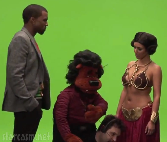 Kanye West Beary White and Kim Kardashian as Princess Leai from Alligator Boots