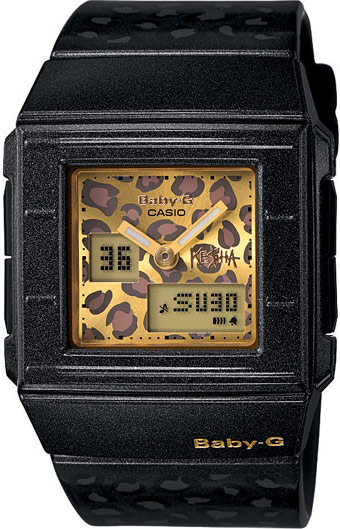 Limited edition Casio Baby-G leopard print watch by Ke$ha model BGA200KS-1E
