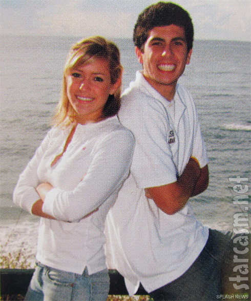 Kristin Cavallari and a mystery man pose together for the Laguna High School yearbook