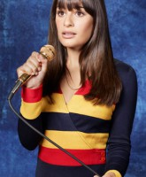 Glee Season 3 cast yearbook photo of Rachel Berry played by Lea Michelle