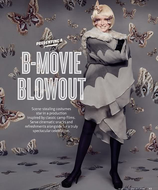Martha Stewart as Motha Stewart in her B-Movie Blowout article from Living 2011