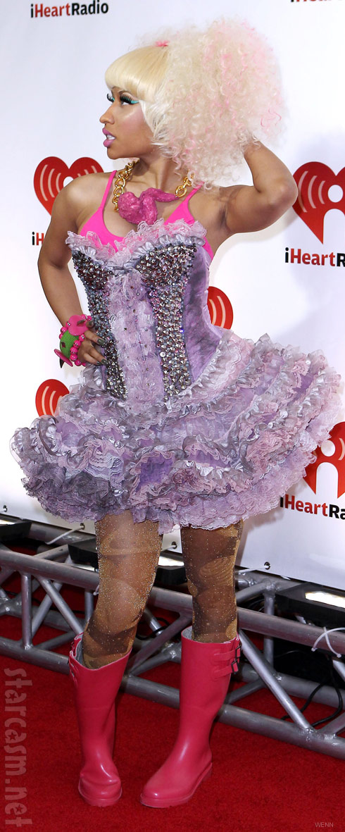 Nicki Minaj at the 2011 I Heart Radio Music Festival wearing a chicken wing necklace