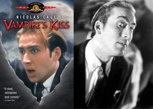 Nicolas Cage as a vampire in the film Vampire's Kiss