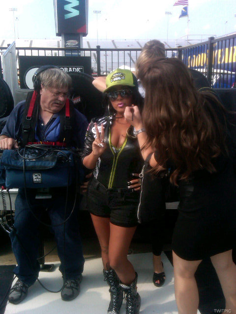 Snooki attends a NASCAR race on September 10 2011
