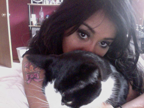 Snooki's new tattoo and her cat Tommy