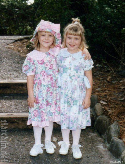 The Situation's twin pals Brittany Taltos and Erica Taltos childhood photo Twinning