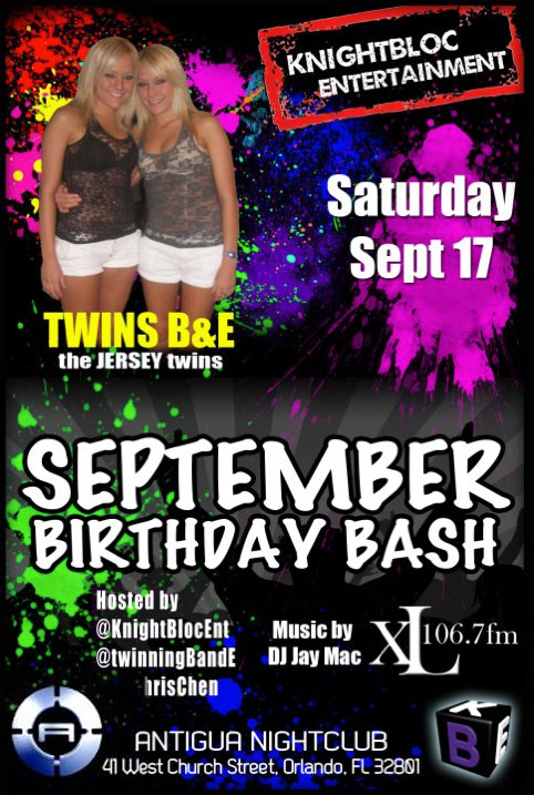 JErsey Shore twins Brittany and Erica Taltos host September Birthday Bash at Antigua nightclub