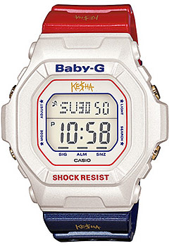 Kesha&#039;s limited edition Casio Baby-G red white and blue watch model BG5600KS-7 